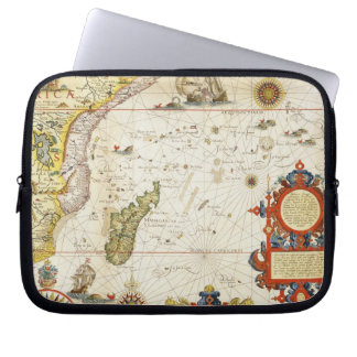Map of East Africa and Madagascar, 1596 (hand colo Laptop Sleeve