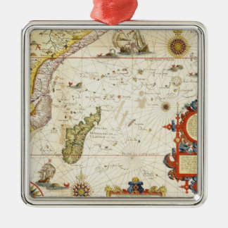 Map of East Africa and Madagascar, 1596 (hand colo Metal Ornament
