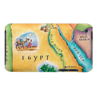 Map of Egypt iPod Touch Cover