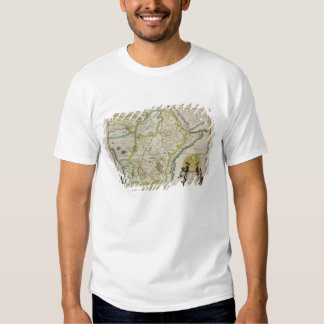 Map of Ethiopia showing five African states Tshirt