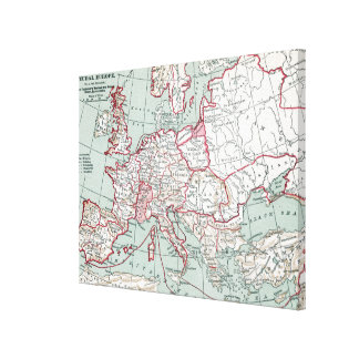 MAP OF EUROPE, 12th CENTURY Canvas Print