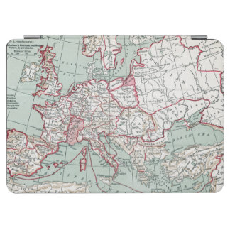 MAP OF EUROPE, 12th CENTURY iPad Air Cover