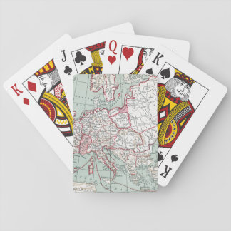 MAP OF EUROPE, 12th CENTURY Poker Deck