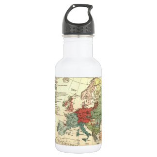 Map of Europe Vintage Antique 532 Ml Water Bottle
