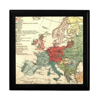 Map of Europe Vintage Antique Gift Box