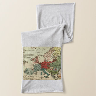 Map of Europe Vintage Antique Scarf