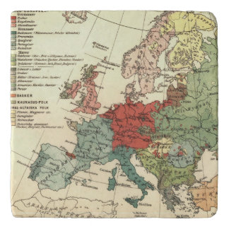 Map of Europe Vintage Antique Trivet