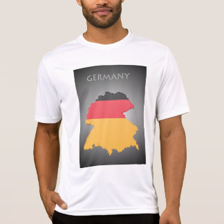 Map Of Germany Mens Active Tee