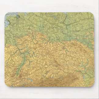 Map of Germany Mouse Pad