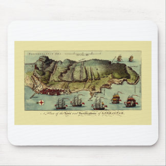 Map Of Gibraltar 1765 Mouse Pad