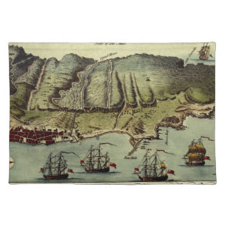 Map Of Gibraltar 1765 Placemat