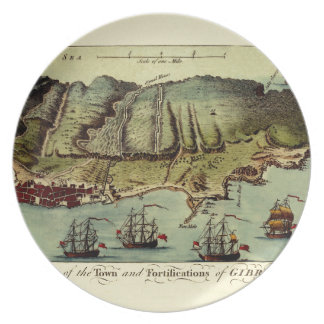 Map Of Gibraltar 1765 Plate