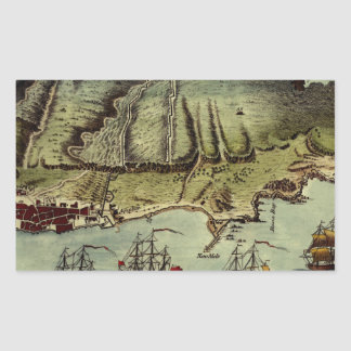 Map Of Gibraltar 1765 Sticker