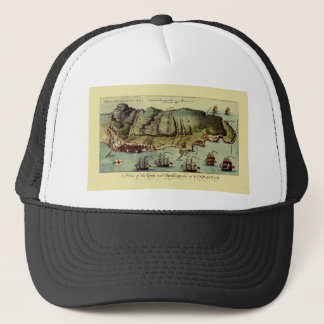 Map Of Gibraltar 1765 Trucker Hat