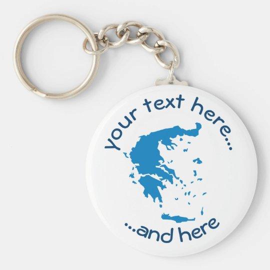 Map of Greece Basic Round Button Keychain