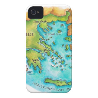 Map of Greece Isles iPhone 4 Case