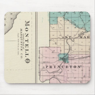 Map of Green Lake County, State of Wisconsin Mouse Pad