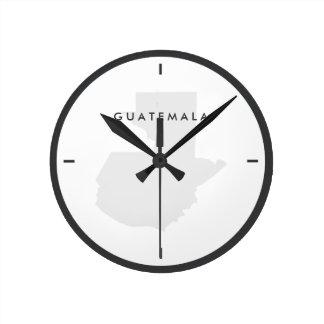 Map of Guatemala Wall Clock