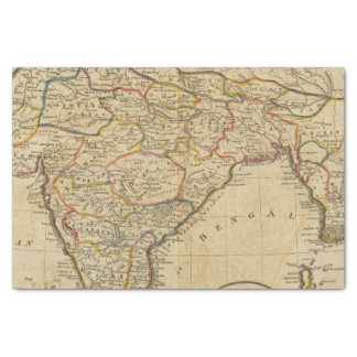 Map of Hindostan or India Tissue Paper