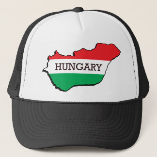 Map Of Hungary Trucker Hat
