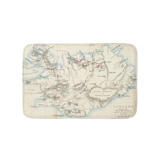 Map of Iceland Bathmat