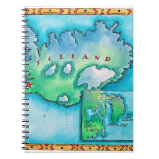 Map of Iceland Notebooks