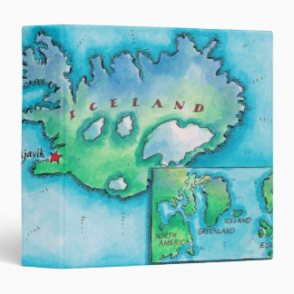 Map of Iceland Vinyl Binder