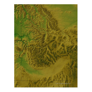 Map of Idaho Postcard