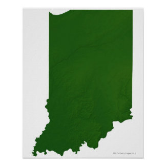 Map of Indiana 2 Poster