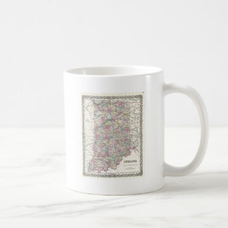 Map of Indiana. Joseph Hutchins Colton Coffee Mug