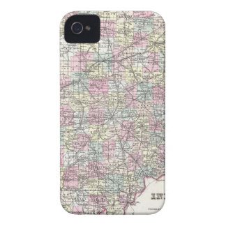 Map of Indiana. Joseph Hutchins Colton iPhone 4 Covers