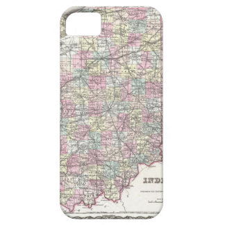 Map of Indiana. Joseph Hutchins Colton iPhone 5 Covers