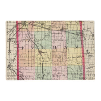 Map of Ingham County, Michigan Laminated Place Mat