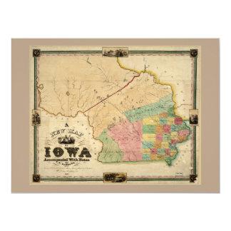 Map of Iowa (1845) Card