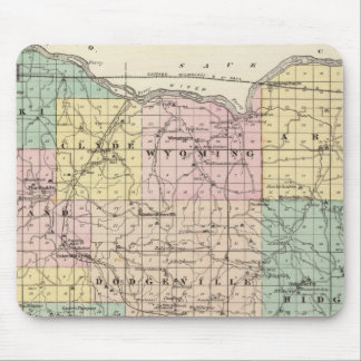 Map of Iowa County, State of Wisconsin Mouse Pad