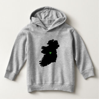 Map of Ireland Irish Pride Green Heart Hoodie