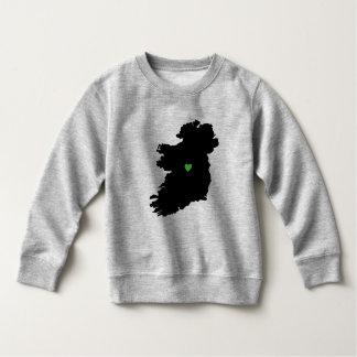 Map of Ireland Irish Pride Green Heart Sweatshirt
