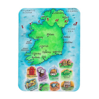 Map of Ireland Magnet