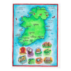 Map of Ireland Postcard