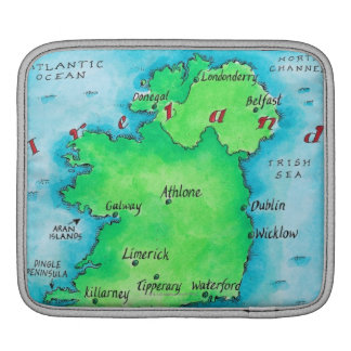 Map of Ireland Sleeves For iPads