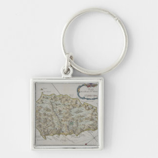 Map of Island of St. Helena Keychains