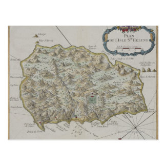 Map of Island of St. Helena Postcard