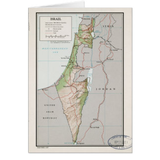 Map of Israel (1967) Card