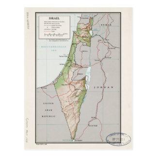 Map of Israel (1967) Postcard