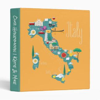 Map of Italy 3 Ring Binder