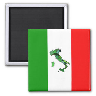 Map of Italy and Italian Flag Magnet