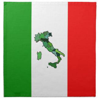 Map of Italy and Italian Flag Napkin
