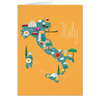 Map of Italy Card
