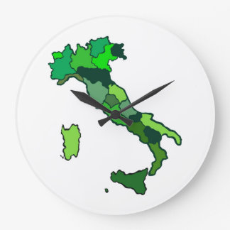 Map of Italy Clock