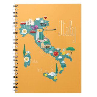 Map of Italy Notebooks